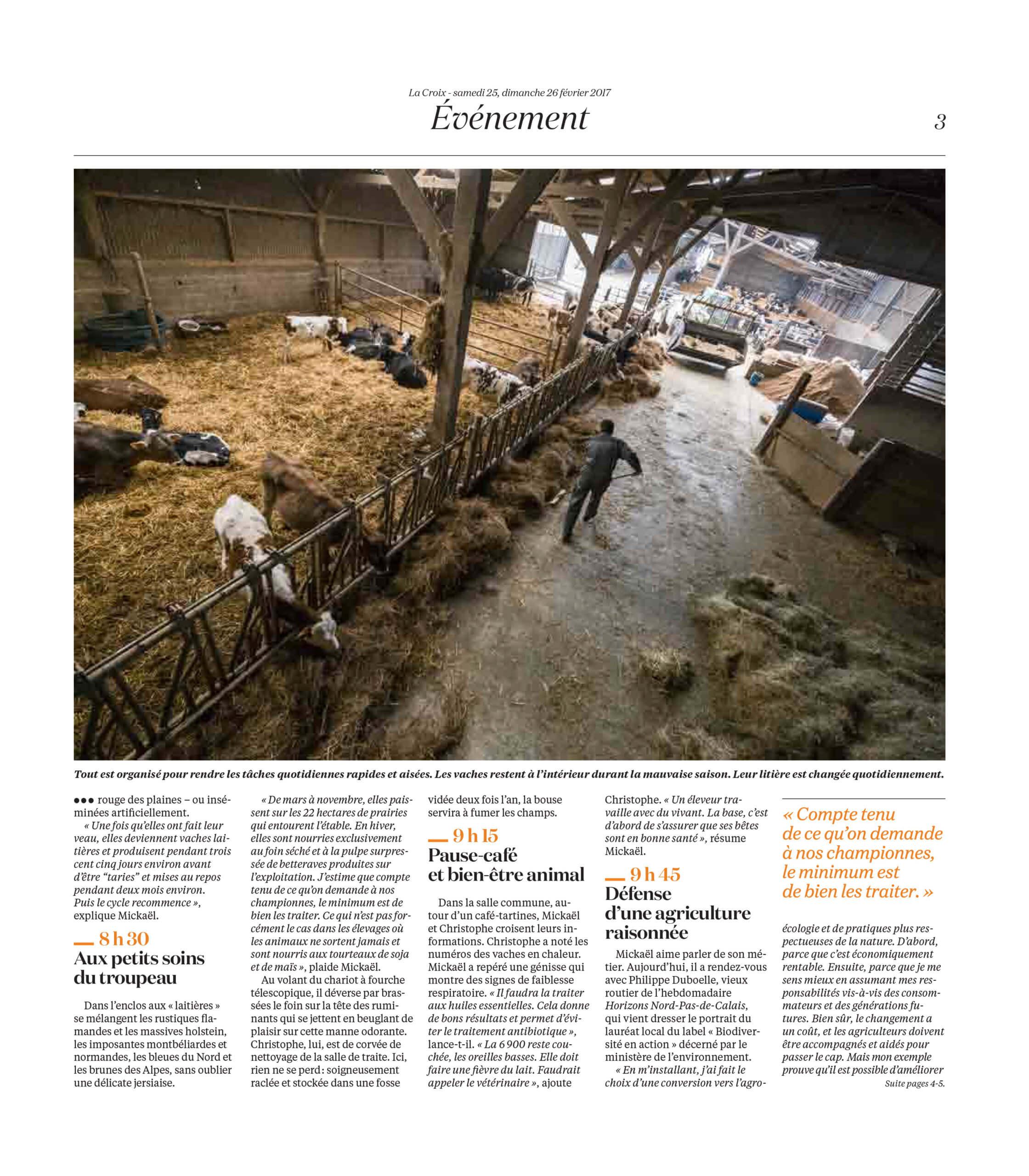 La Vie d'une ferme au fil du jour : La Croix (2017) - page 2