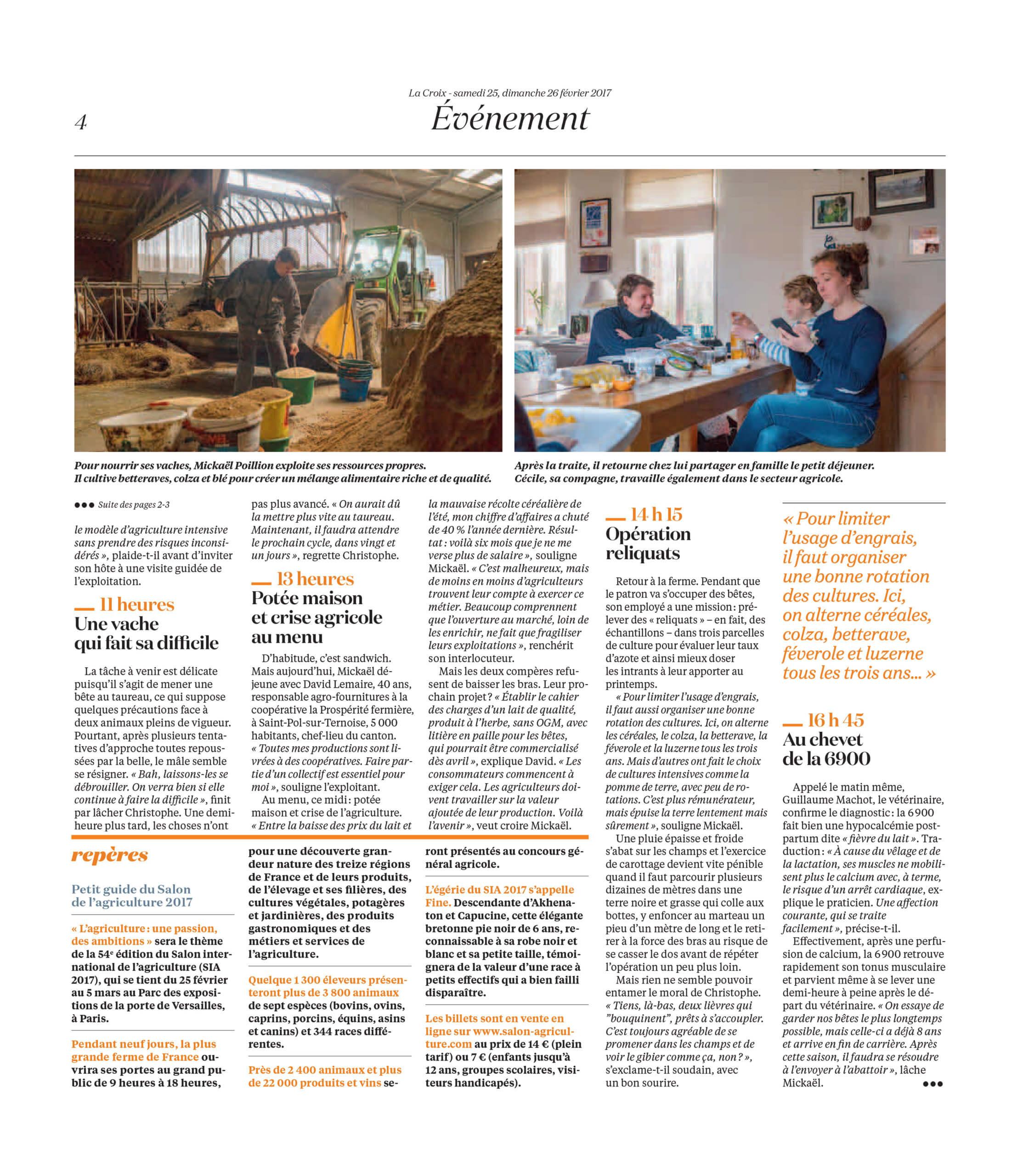 La Vie d'une ferme au fil du jour : La Croix (2017) - page 3