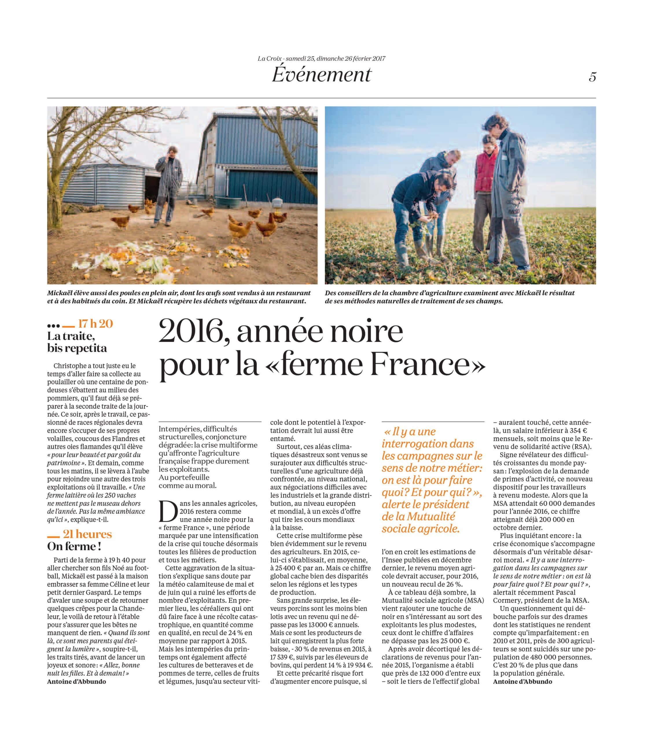 La Vie d'une ferme au fil du jour : La Croix (2017) - page 4